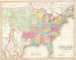 The United States Map by John Melish Wikipedia