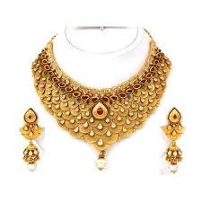 lady gold necklace images Women gold necklace set sone ka har set prem jewellers lucknow jpg
