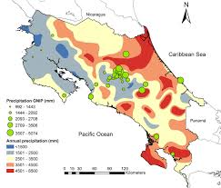 North America Precipitation Map by Spatial And Temporal Variation Of Stable Isotopes In Precipitation