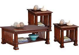 rooms to go coffee tables and end tables clairfield tobacco 3 pc table set table sets dark wood