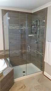 Shower Doors Unlimited 59 X 37 X 78 Hinged Frameless Glass Return Shower Door Glass