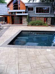 bomanite imprinted concrete pool deck installed by colorado