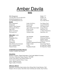 theatrical resume template sle musical theatre resume best ideas of with form magnificent