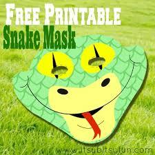 printable lizard mask template free printable snake mask template itsy bitsy fun