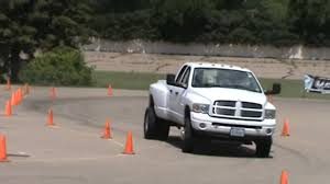 dodge ram dully someone took their dodge ram dually to the autocross the