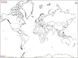 outline of world map map outline