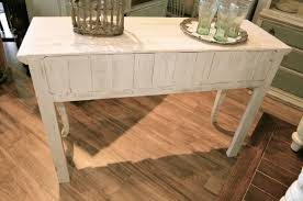 White Distressed Desk by Solid Wood Distressed Off White Sofa Table Entry Table Or Small