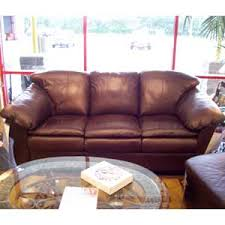pillow arm leather sofa united leather churchill leather sofa with pillow arms