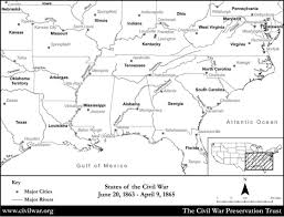 Map Of Mexico With States by Blank Civil War States Map With State Names And Rivers Civil War