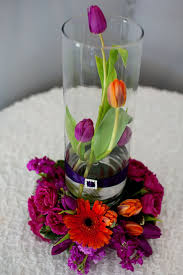 14 Cylinder Vase This Is A 14 U2033 Cylinder Glass Vase With Orange Tulips Wrapped