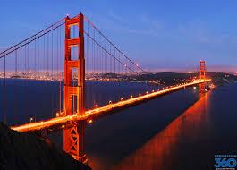 golden gate bridge skyline at night