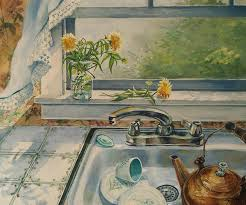 Kitchen Sink Painting By Joy Nichols - Kitchen sink paint