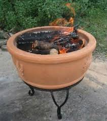 Ceramic Firepit Fir 0002 Top Quality Iron Stand Terracotta Clay Pit Buy