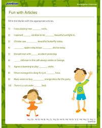 fun with articles u2013 printable grammar worksheets for kindergarten