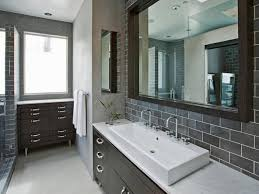 bathroom tile gray glass subway tile backsplash grey subway tile