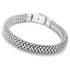 silver woven bracelet images Artisan silver by samuel b men 39 s 8 5 quot woven bracelet evine