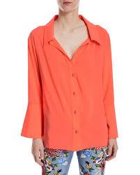 oversized blouse denver open neck button front oversized blouse