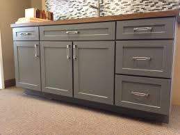 Shaker Door Style Kitchen Cabinets Armstrong Cabinets Trevant 5 Piece Door Style In The Slate Painted