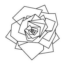 drawn line art geometric pencil and in color drawn line art
