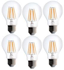 bioluz led dimmable filament a19 60 watt uses 7 watts soft white