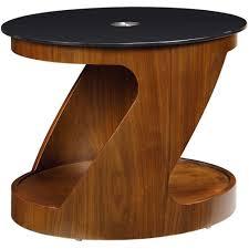 dark wooden small walnut nest of tables round storage