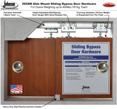 How Wide Is A Standard Patio Door by Johnson Hardware 200sm Side Mount Sliding Bypass Door Hardware