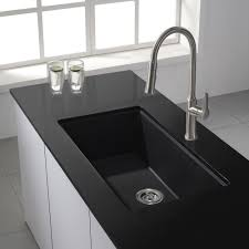 granite countertop kitchen sink drain board water ridge faucet
