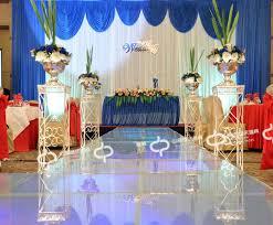 wedding backdrop design philippines 2015 new design blue wedding swag background for wedding party