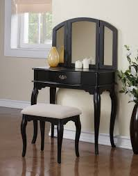 furniture artistic bedroom decoration using black wood queen anne fascinating makeup vanity stool for bedroom decoration ideas contemporary furniture for bedroom decoration with black