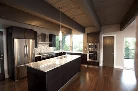Dark Kitchen Countertops - dark wood cabinets white raised panel kitchen cabinet black