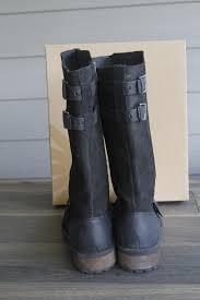 womens ugg everglayde boots ugg australia black everglayde biker boots booties size us
