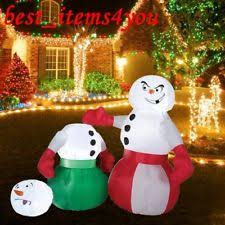 Outdoor Lighted Snowman Outdoor Snowman Christmas Current 1991 Now Ebay