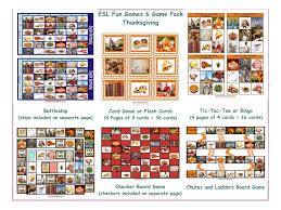 esl lesson thanksgiving thanksgiving card game 4 pages u003d 36 cards by eslfungames