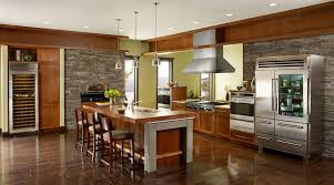 interior incredible kitchen layout design with wood high