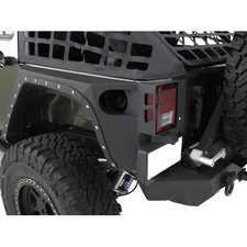 white four door jeep wrangler smittybilt 76880 xrc armor front fenders for 07 17 jeep wrangler