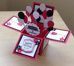 handmade card in a box unique birthday greeting card box card 3d