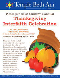 thanksgiving interfaith service event temple beth am of