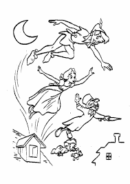 Tinkerbell Halloween Coloring Pages Print Home Tinkerbell Peter Pan Coloring Pages And Peter Pan