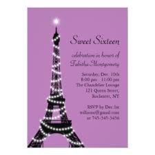 eiffel tower invitations purple eiffel tower invitations announcements zazzle