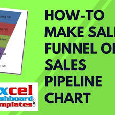how to make sales funnel or sales pipeline chart in excel