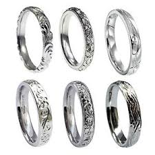 engraved wedding rings 3mm 18ct white gold engraved wedding rings court comfort 750