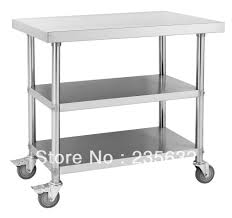 Stainless Steel Kitchen Work Table Island Stainless Steel Table With Wheels Costco Chef Series Kitchen