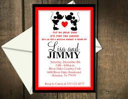 Minnie Mouse Invitation Card Super Cute Invitations Mickey Mouse Wedding Pinterest