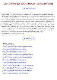 canon printer manuals canon pixma ip90 service manual parts list ca by tomokostott issuu