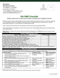 Ira Rmd Table Ira Rmd Checklist Checklist For Cpas Send To Your Cpa Network