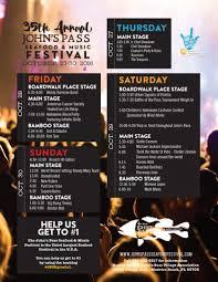 35th annual john u0027s pass seafood u0026 music festival treasure island