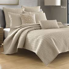 Solid Color Quilts And Coverlets Camdyn Neutral Solid Color Quilted Coverlet From J By J Queen New York