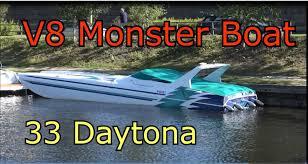 v8 monster boat 33 daytona eliminator youtube