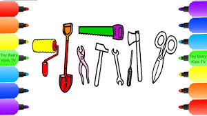 how to draw construction tool for kids coloring pages hammer