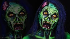comic zombie halloween makeup tutorial ilana k artist youtube